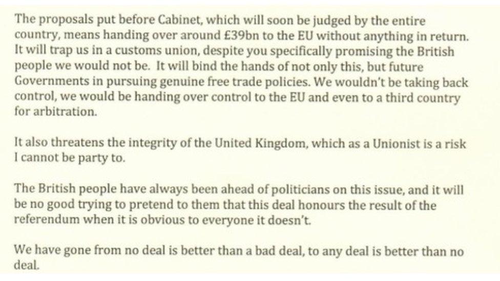 Esther McVey resignation statement