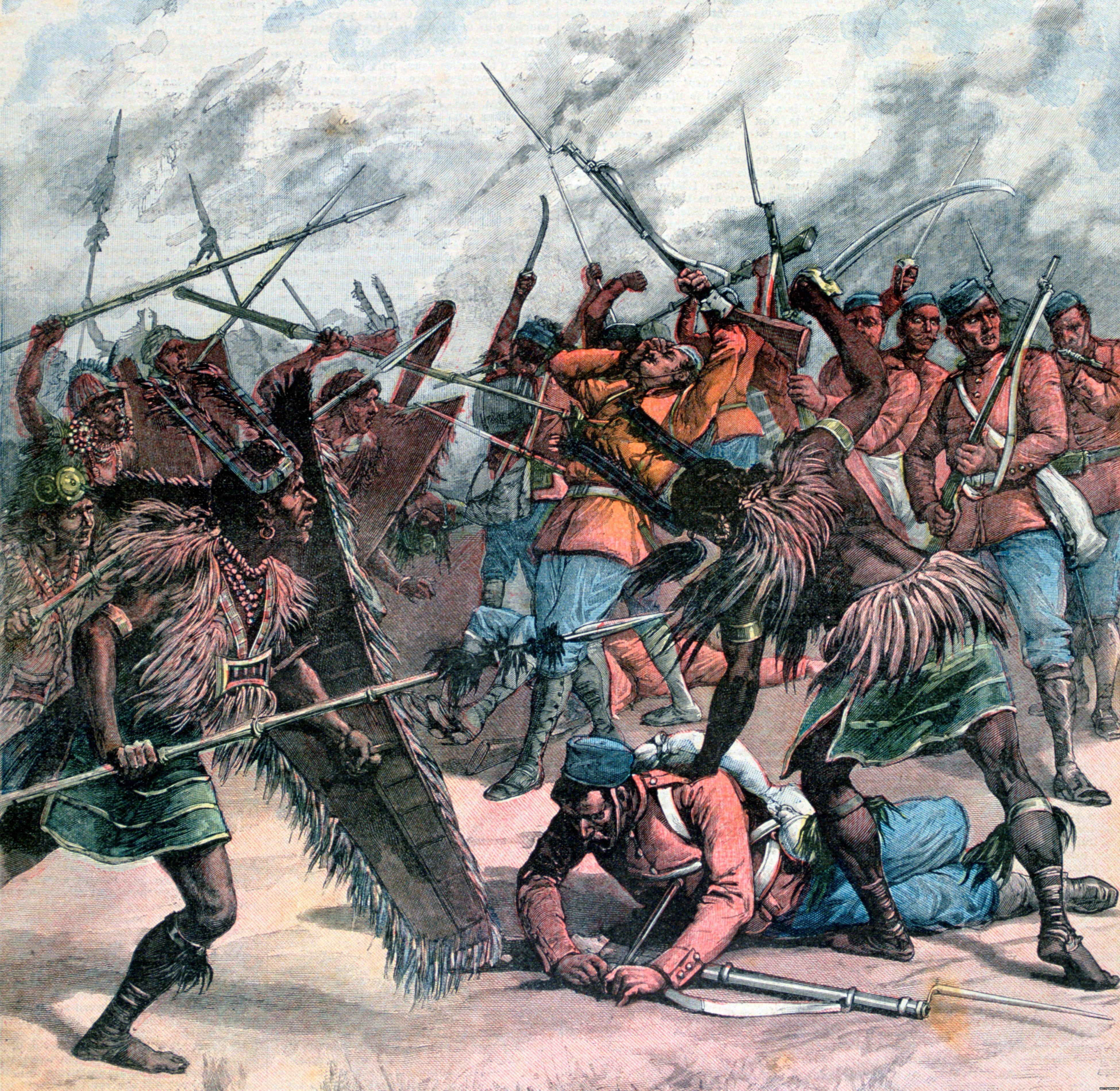 साल 1891 में मणिपुर में हुए विद्रोह का चित्र