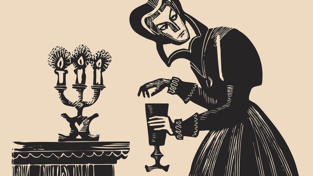 Mujer con copa de vino