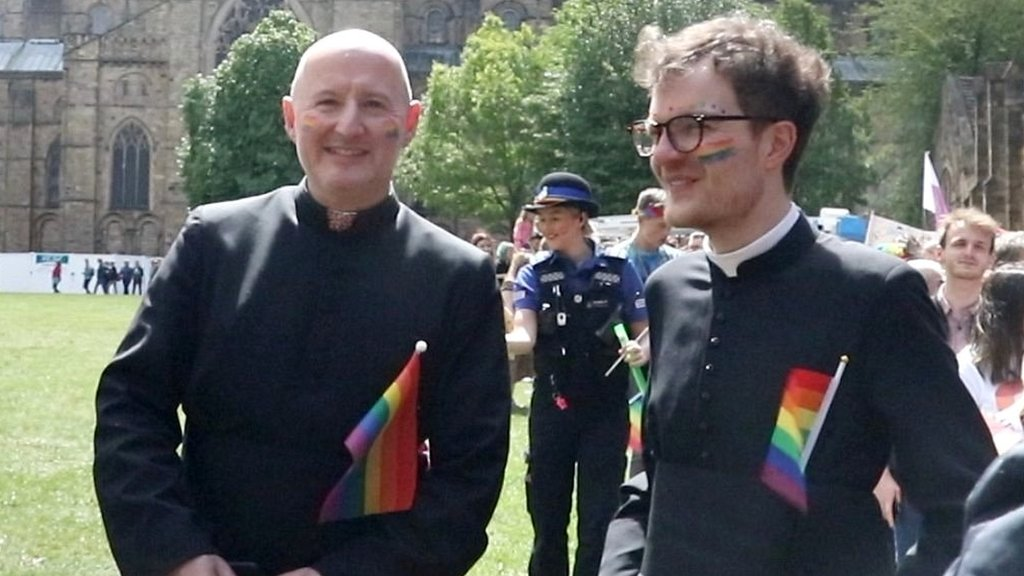 Durham Cathedral celebrates LGBT Pride march