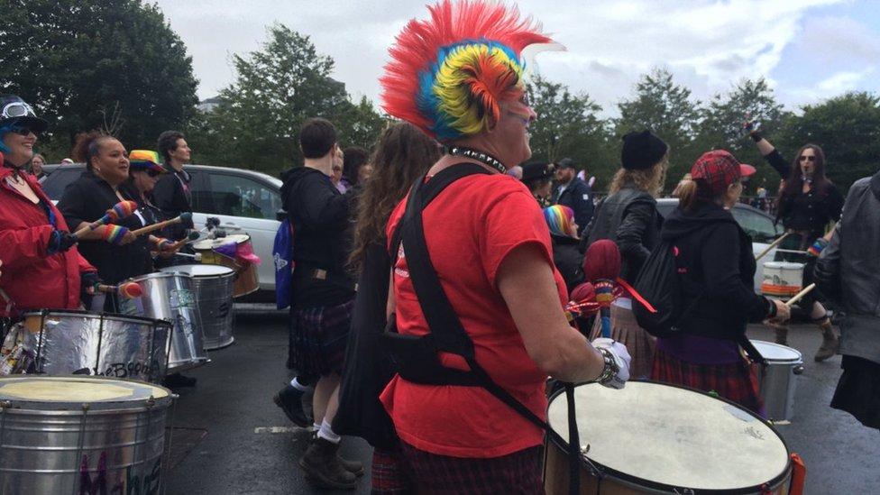 Marchers at Pride Glasgow