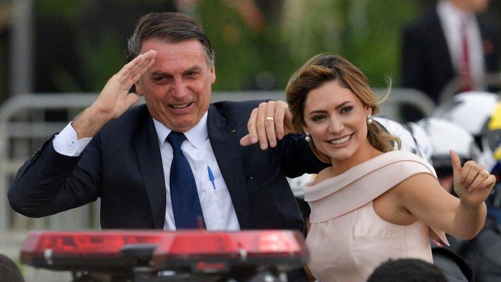 Žair Bolsonaro sa suprugom Mišel