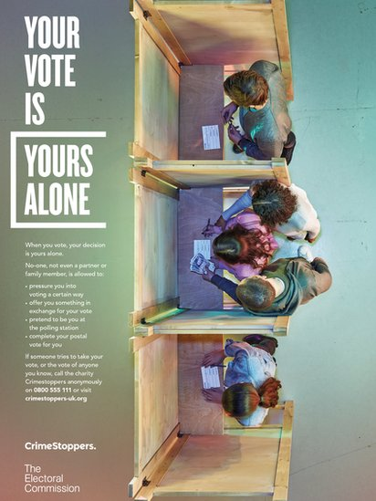 Electoral Commission/Crimestoppers poster