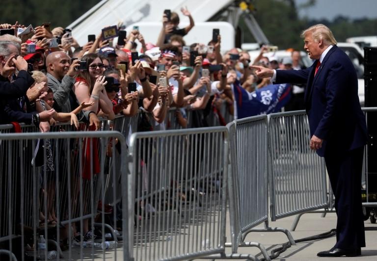 Trump con simpatizantes en Wilmington