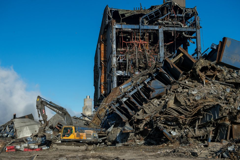 Power station collapse
