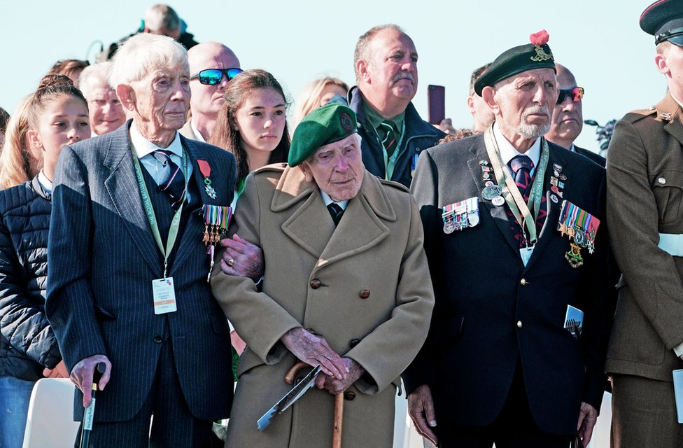 D-Day veterans at the British Normandy Memorial site