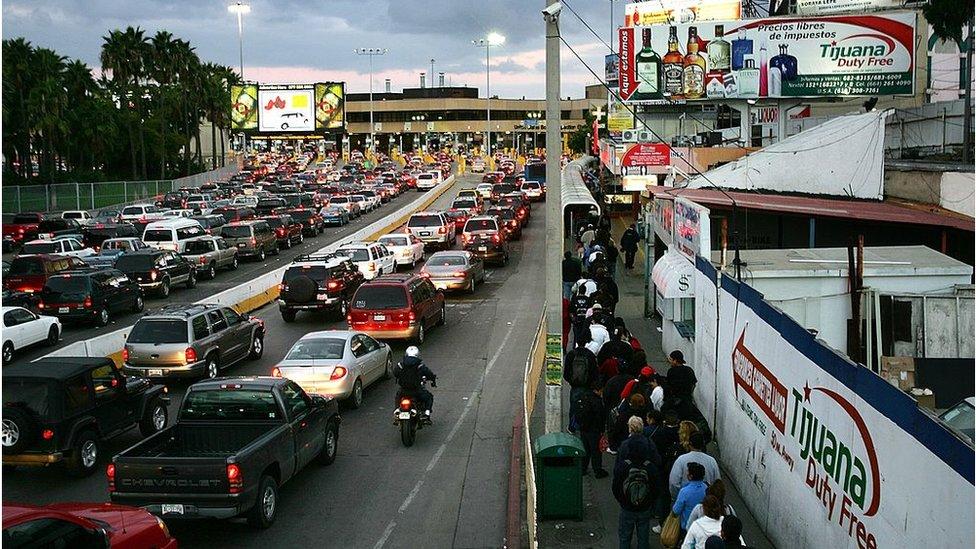 La frontera de Tijuana