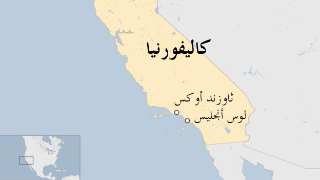 خريطة كاليفورنيا