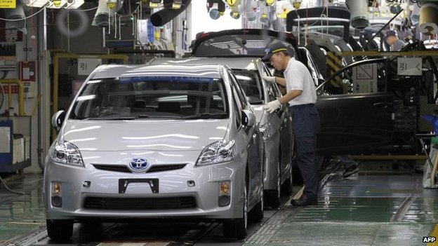 Toyota Prius in Japanese factory