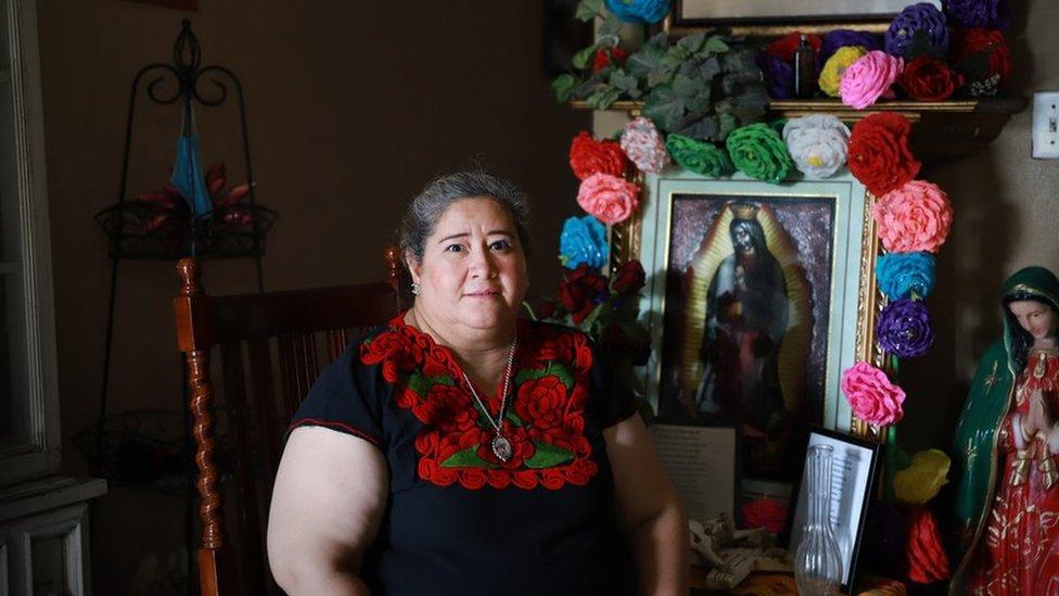 هيلدا في بيتها في سان أنطونيو