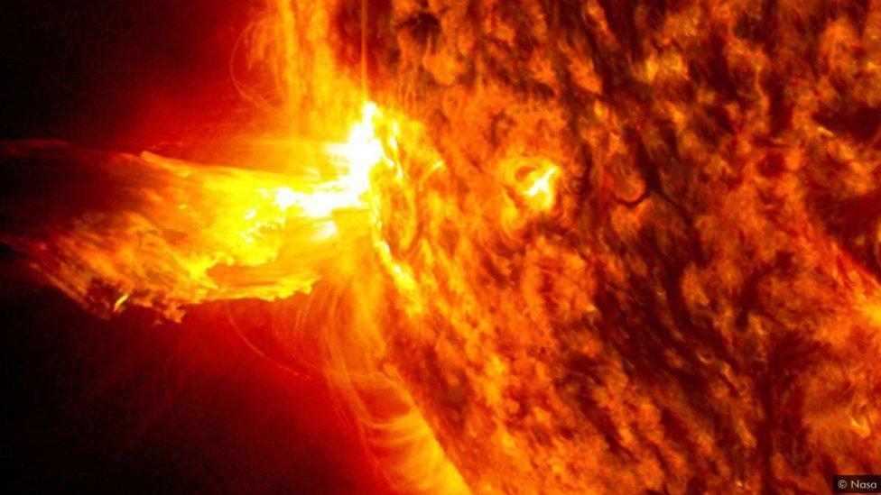 Radiación solar.