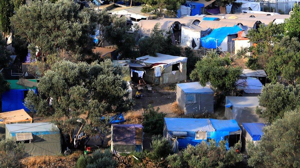 Kamp za migrante na ostrvu Samos