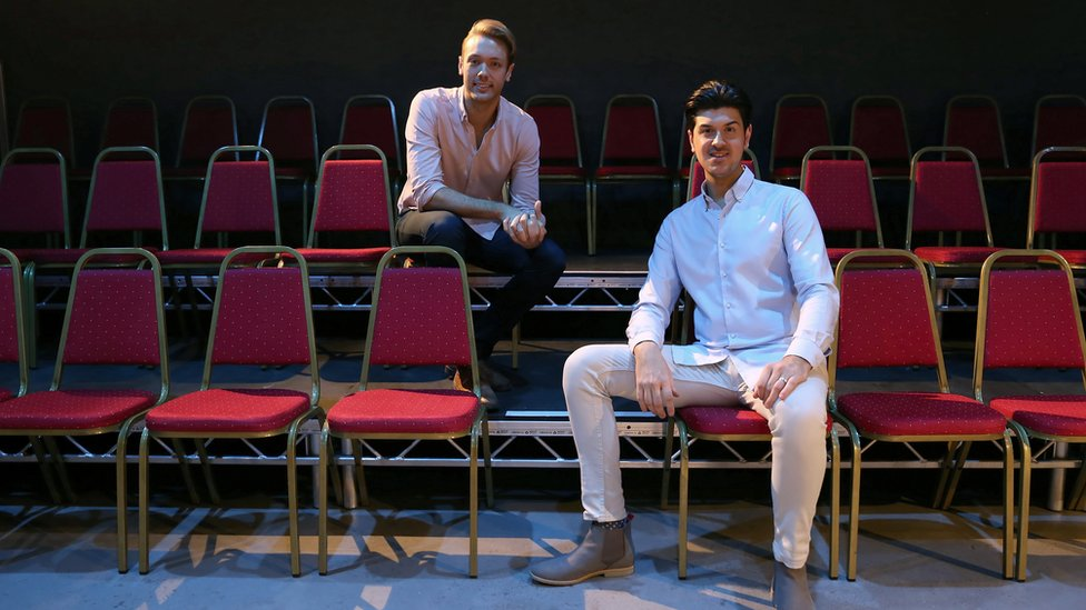 William Whelton (left) and Joseph Houston at Hope Mill Theatre