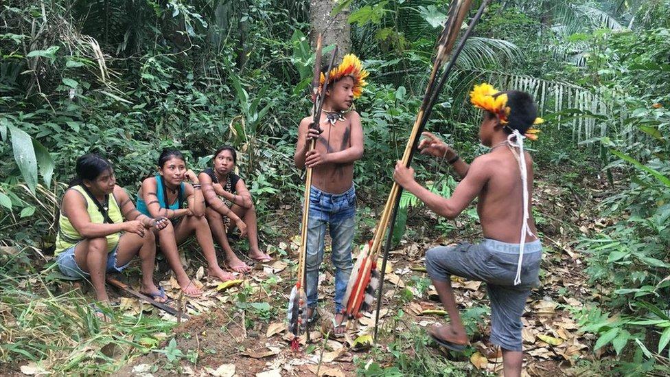 Grupo indígena.
