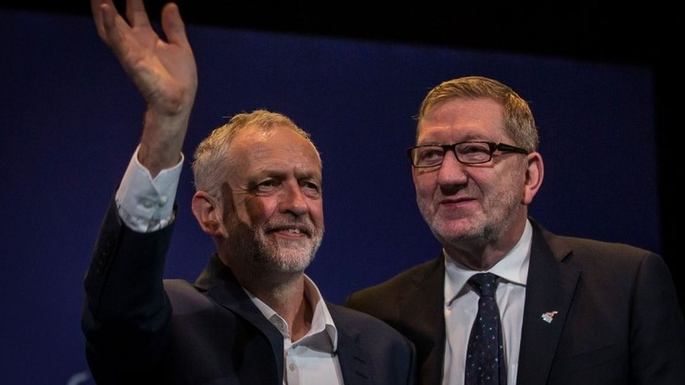 Jeremy Corbyn and Unite general secretary, Len McCluskey