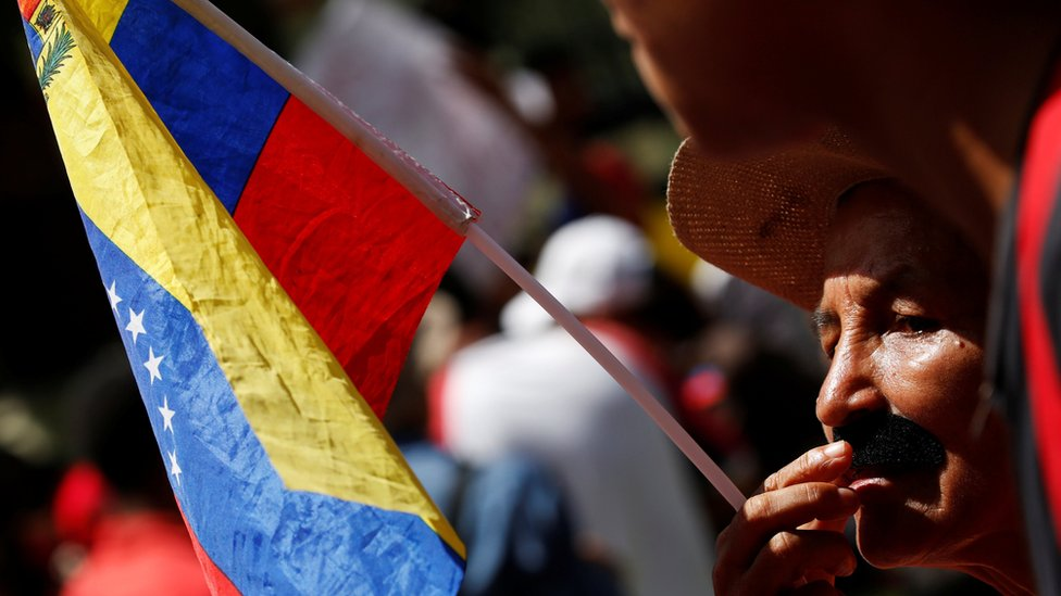 A government supporters in Caracas, 30 July