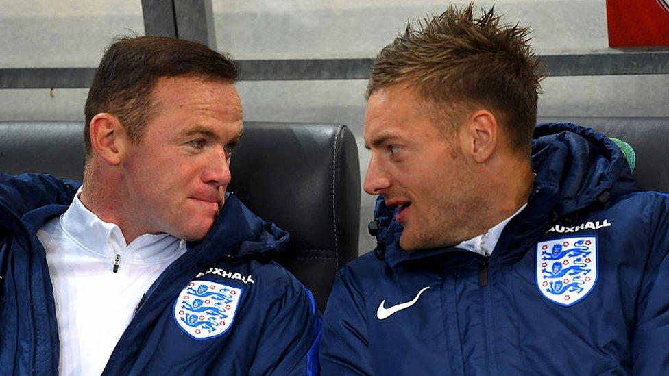 Wayne Rooney and Jamie Vardy