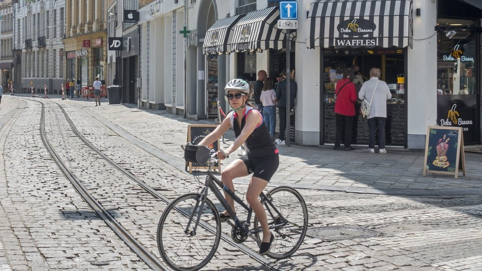 Cyclist in Ghent