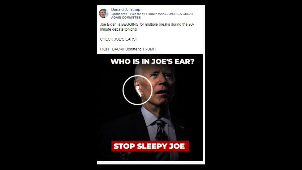 Ad of Biden.