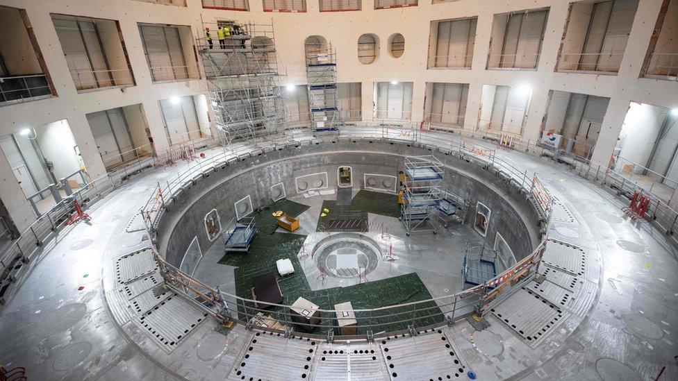 Construcción del tokamak de Iter
