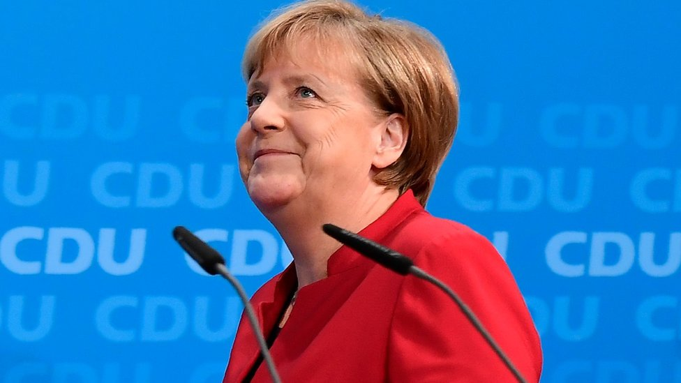 German Chancellor Angela Merkel arrives to address a press conference at the Christian Democratic Union (CDU) party headquarters in Berlin, on November 20, 2016.