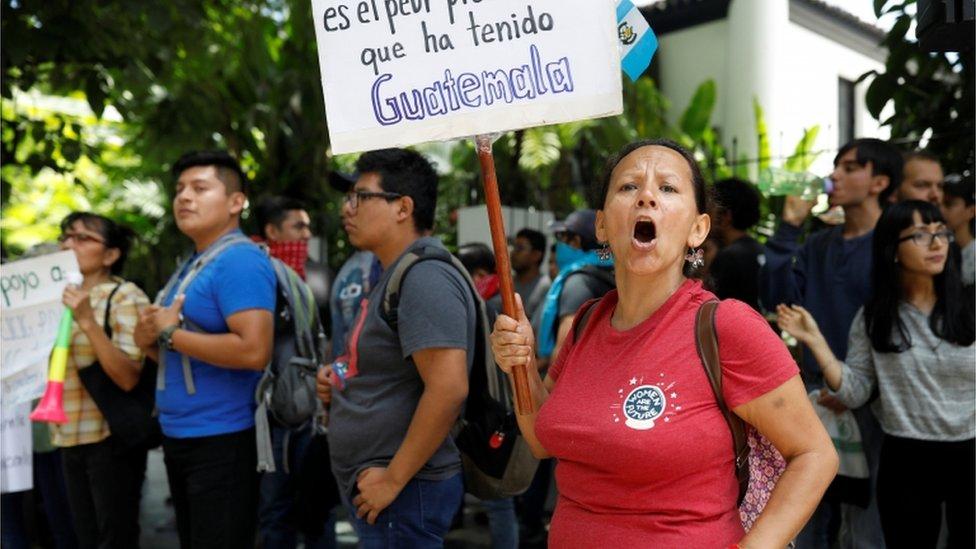 Protesta contra el acuerdo migratorio entre Guatemala y EE.UU.