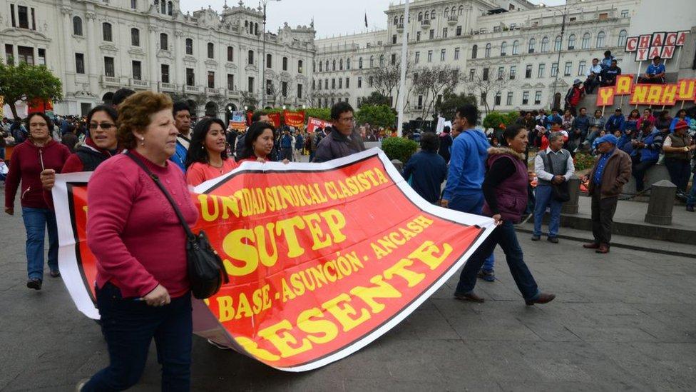 Huelga de maestros en 2017