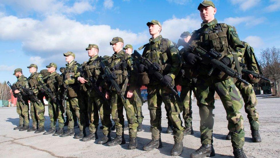 Conscriptos al ejército de Suecia