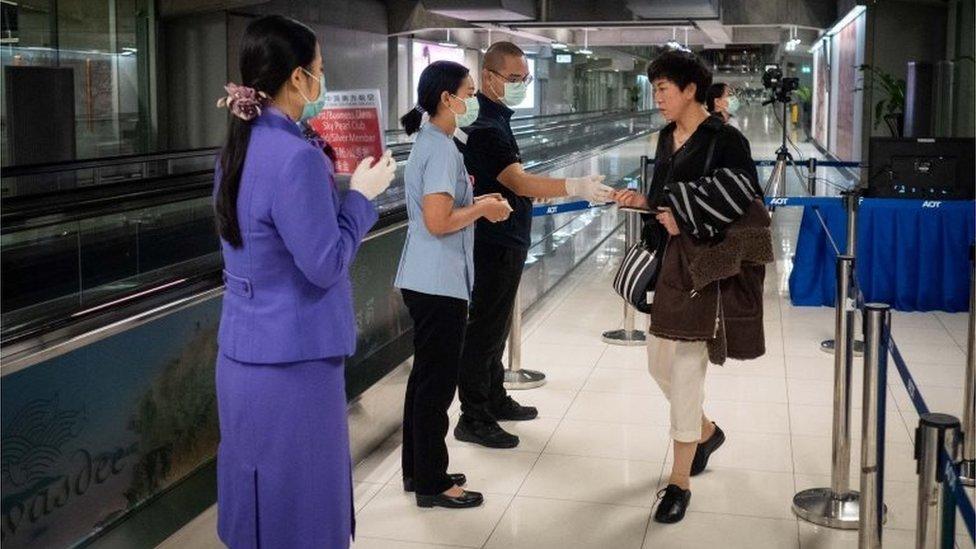 Medidas de seguridad en el aeropuerto de Tailandia.