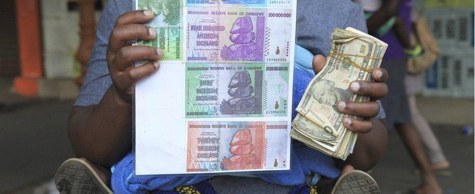 Zimbabwe currency trader