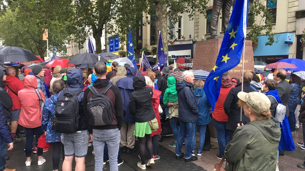Protest in Cardiff