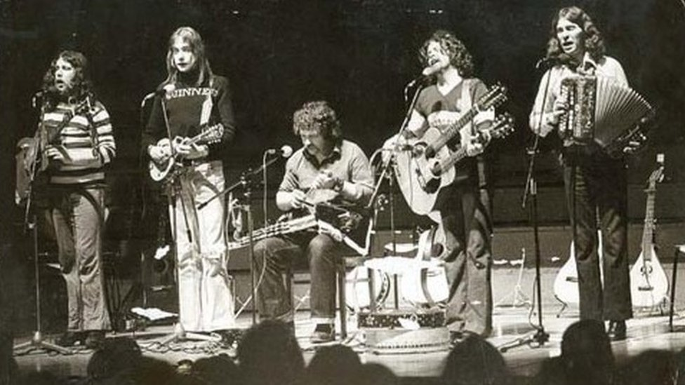The Fureys on stage in Germany in the late 1970s
