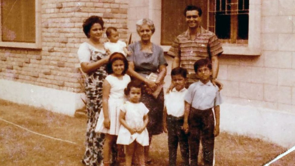 Carl Rodrigues and his family