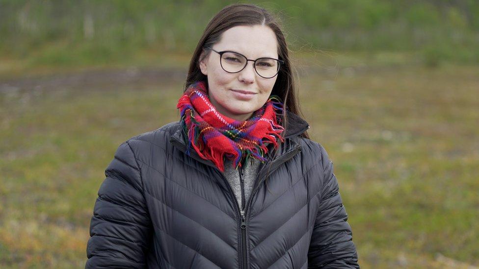 Inga Anne Karen Sara, hija del jefe sami.