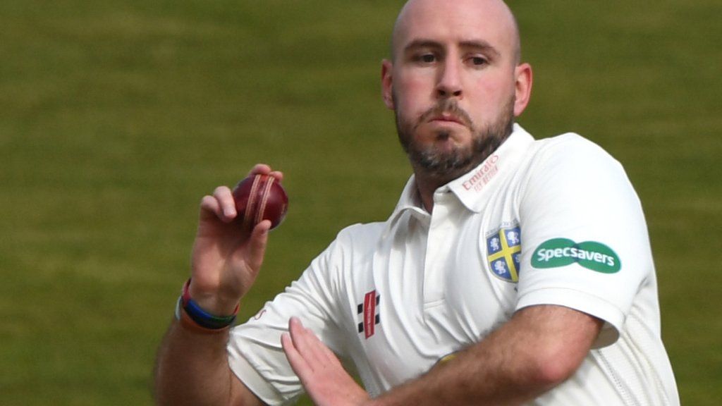 County Championship: Worcestershire beat Durham by five wickets despite scare
