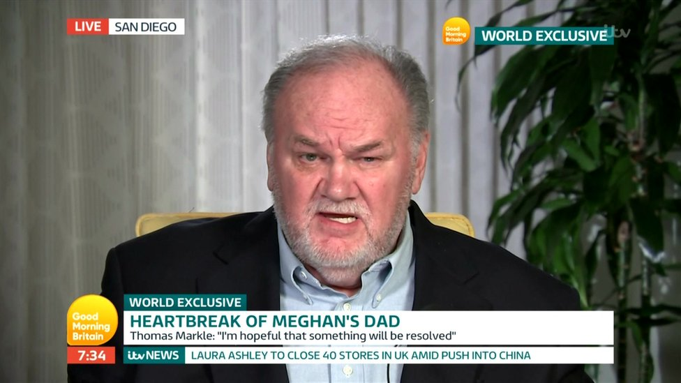 Meghan's dad says daughter 'ghosting' him since wedding