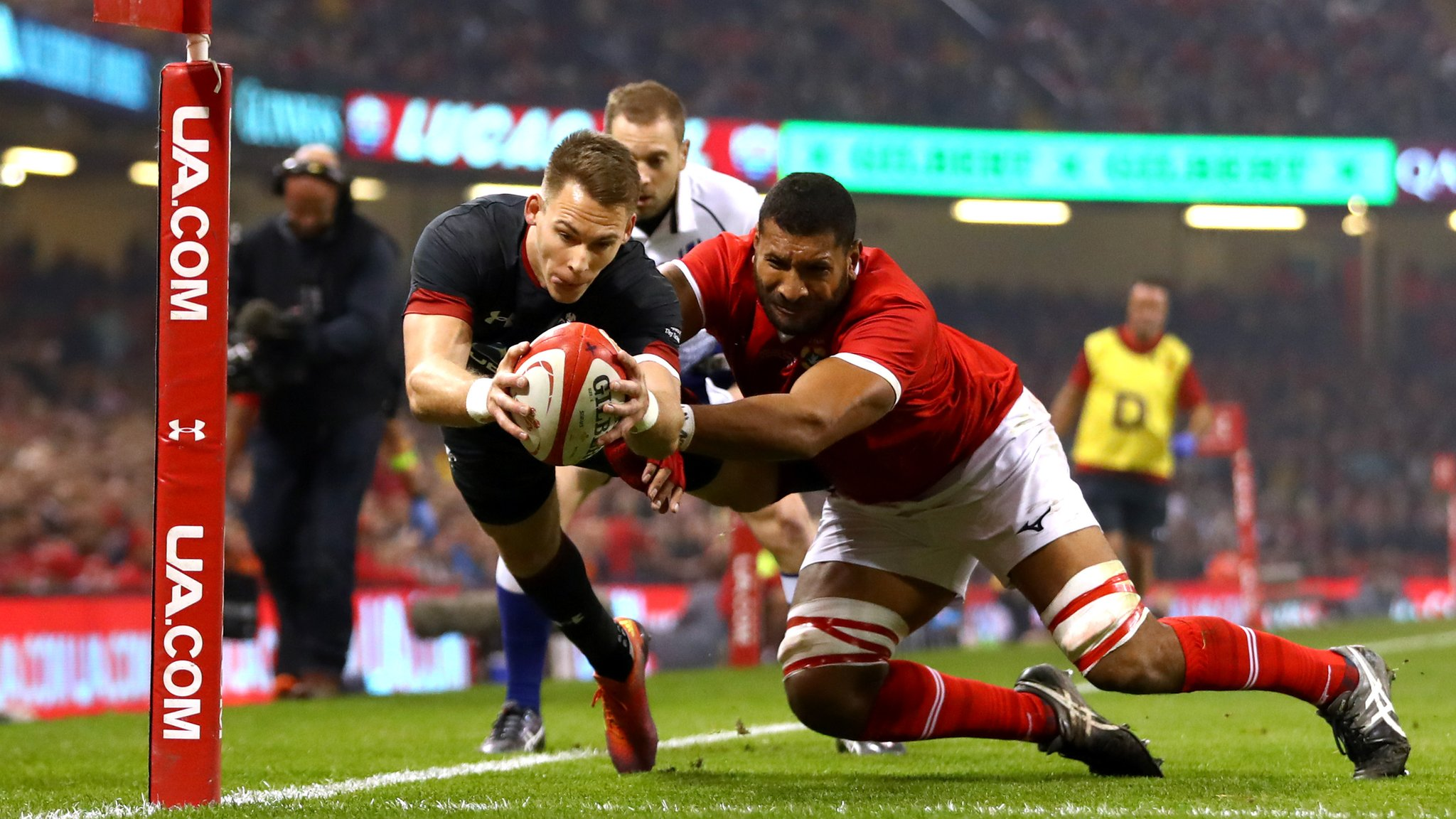 Wales v Tonga: Liam Williams touches down to lead