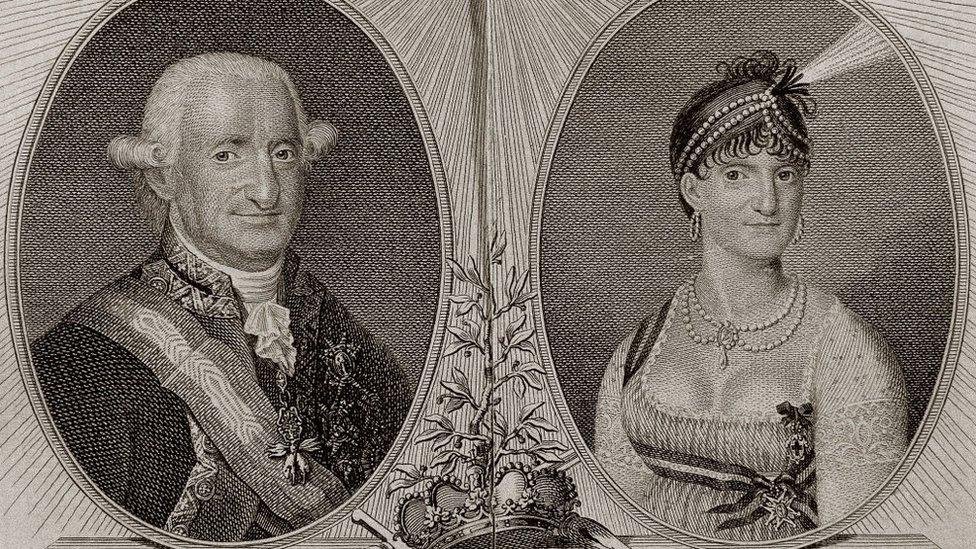 Carlos IV de España y la reina consorte María Luisa de Parma