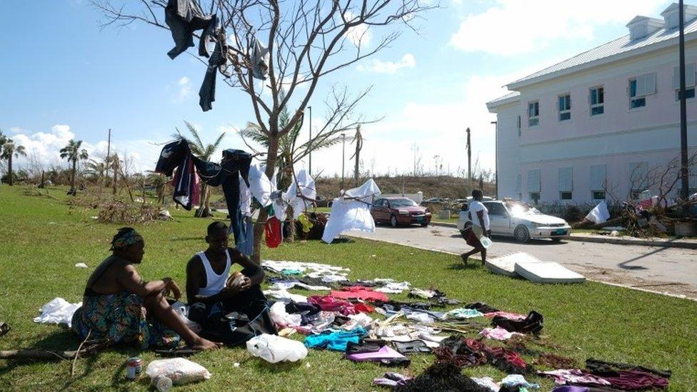 Víctimas del huracán Dorian en la isla de Gran Ábaco, 5 de septiembre de 2019