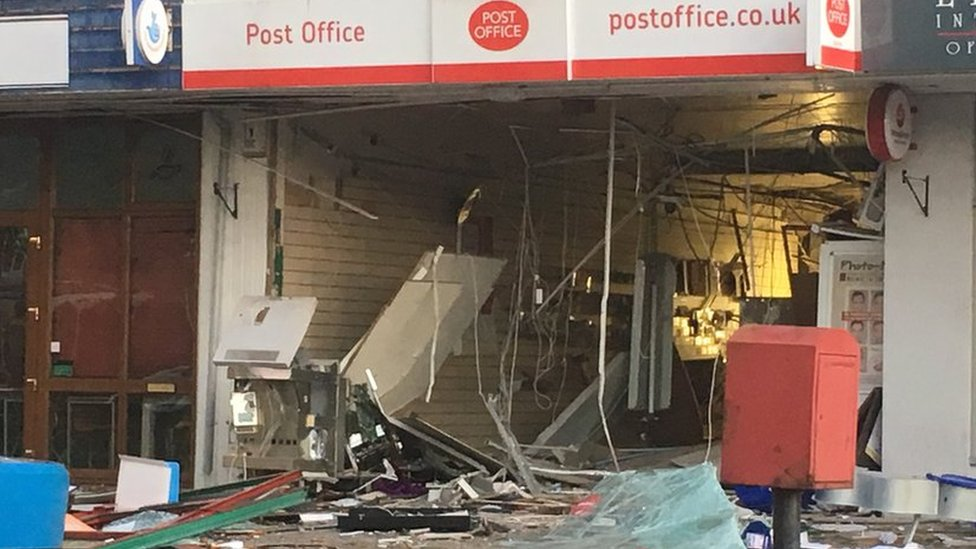 Spondon Post Office blown up by cash machine raiders