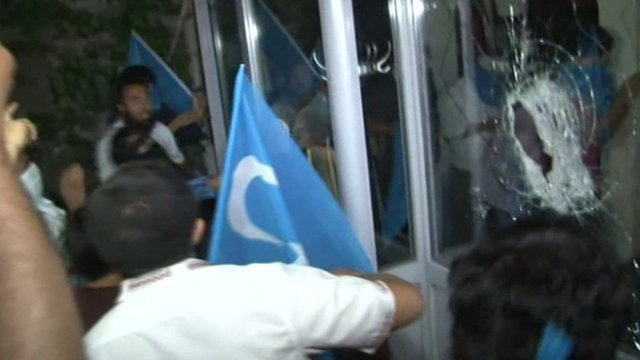 Protesters smash windows at Thai consulate in Istanbul