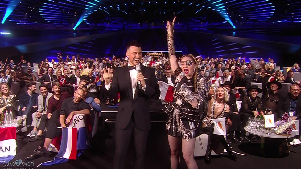 Eurovision 2019: Madonna leads crowd in Music Makes The People Come Together