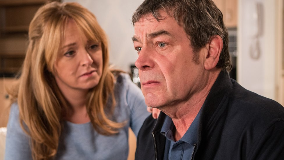 Jenny Bradley played by Sally Ann Matthews and Johnny Connor played by Richard Hawley