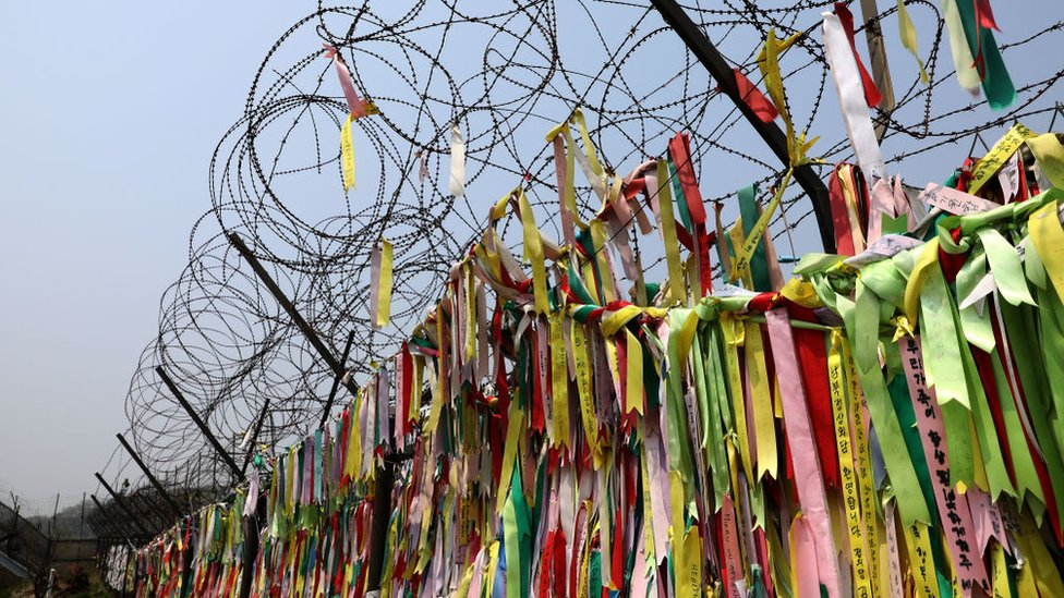 Ribbons on the border