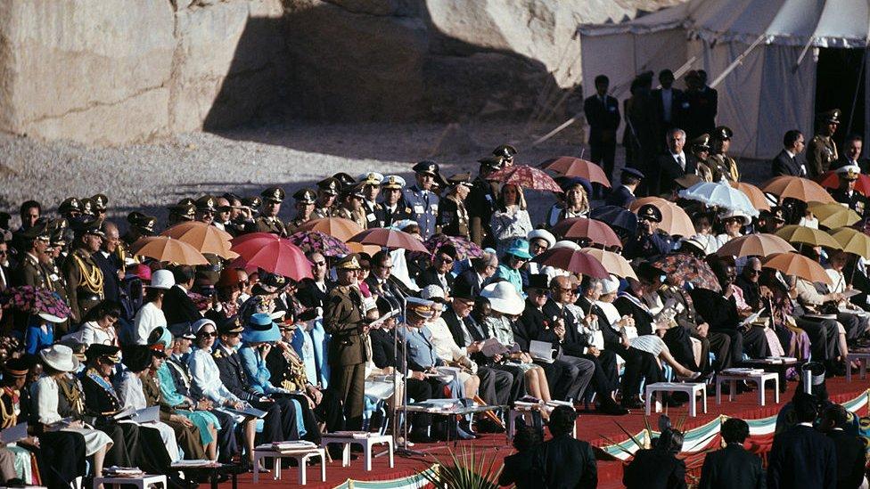 Zvanice u Persepolisu na proslavi 2.500 godina Persijskog carstva (1971)