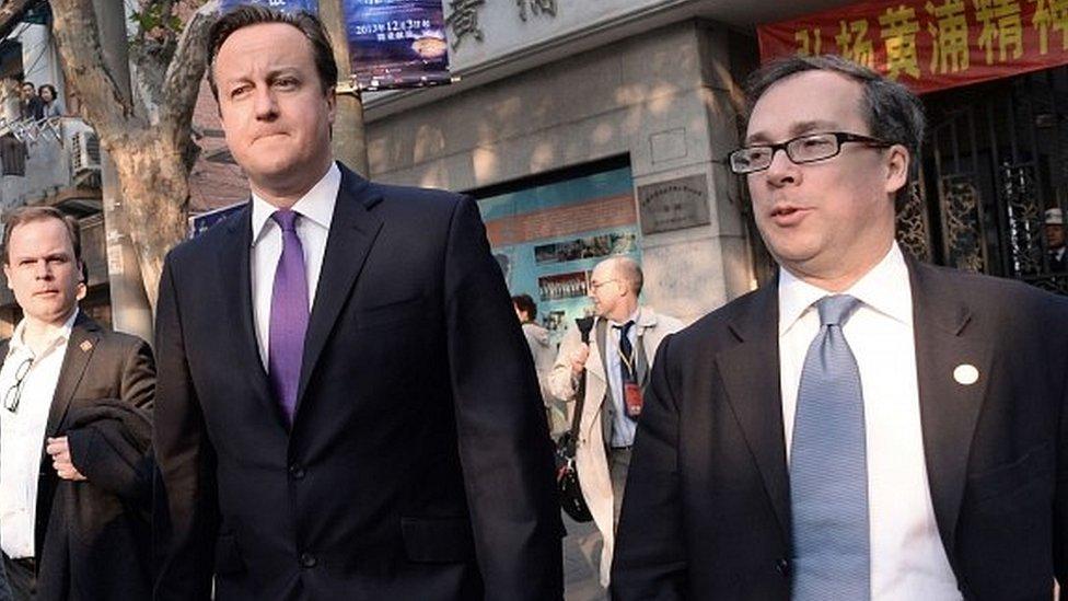 David Cameron (left) and Ed Llewellyn