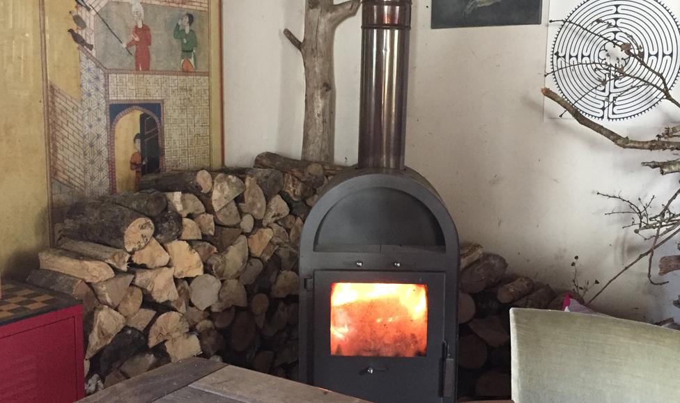 Wood-burning stove, file pic