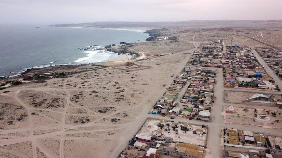La costa de La Higuera, Chile