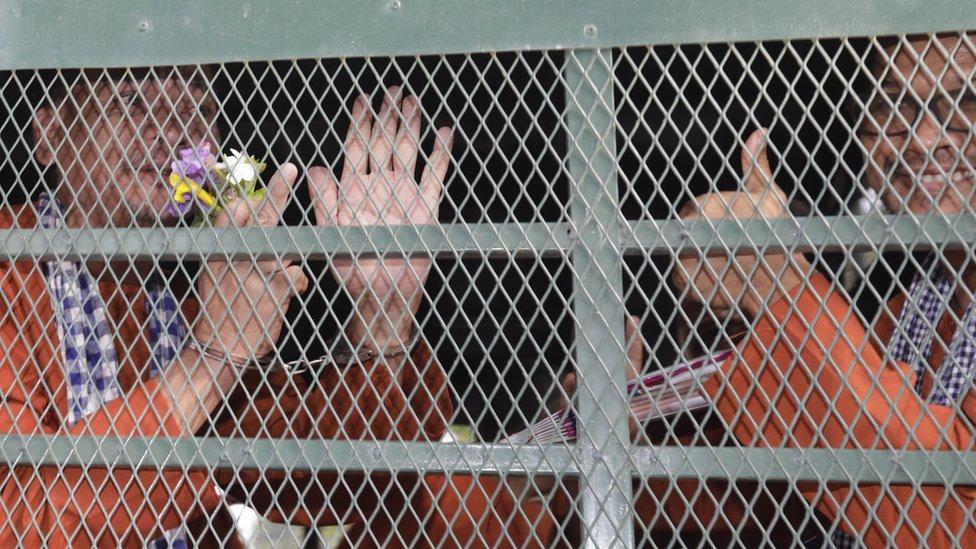 معتقلون من حزب الإنقاذ الوطني الكمبودي