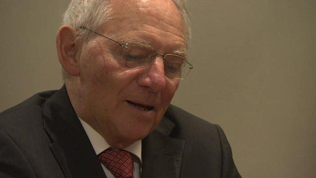 Wolfgang Schaueble, at Davos 2016